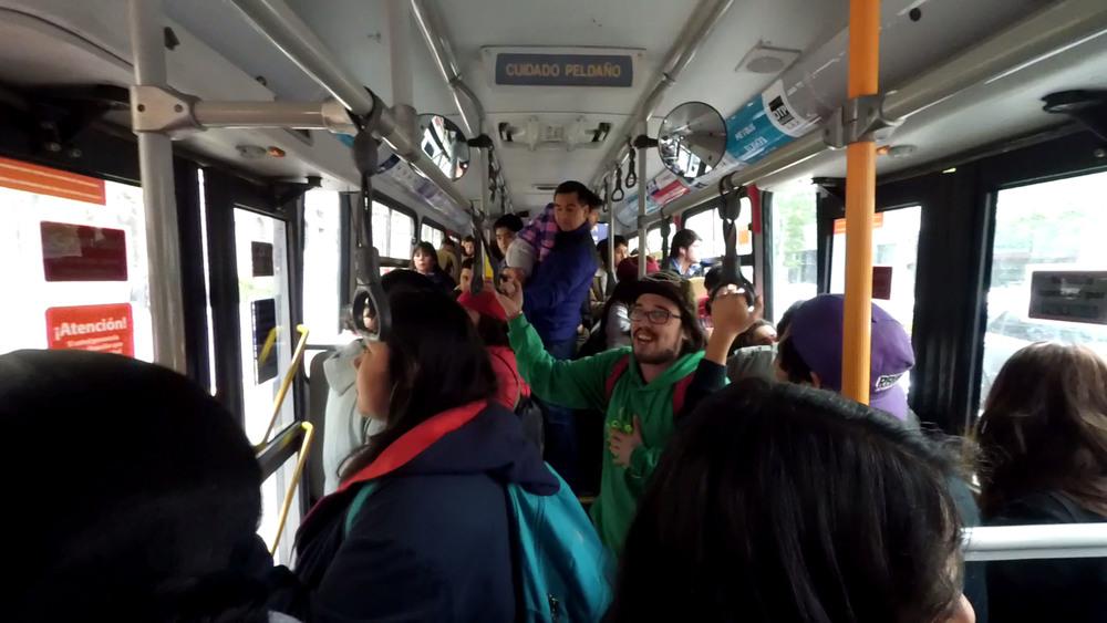 Rap in a bus? Yes please.
